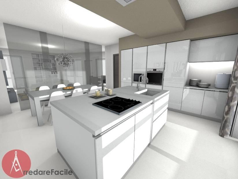 Cucina moderna con isola by arredarefacile by id solutions homify - Cucina moderna con isola ...