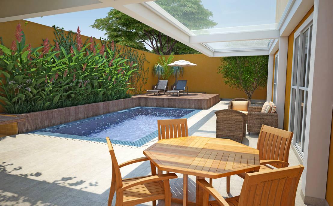 7 consejos para darle nueva imagen y color a tu patio for Zocalos para patios modernos