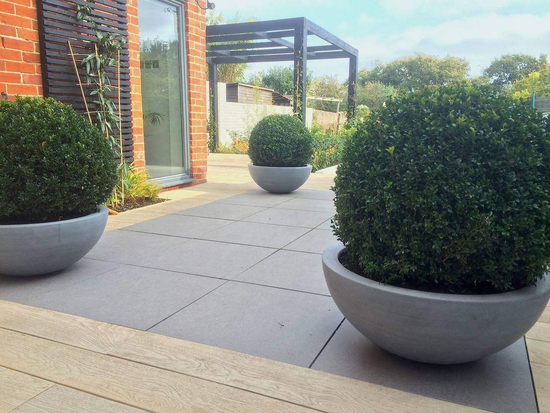 Small garden extension door andy stedman landscape garden design homify - Omslag van pergola ...