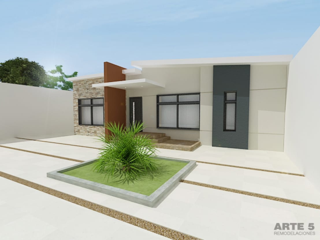 15 casas de un piso peque as y sencillas for Imagenes de oficinas modernas pequenas