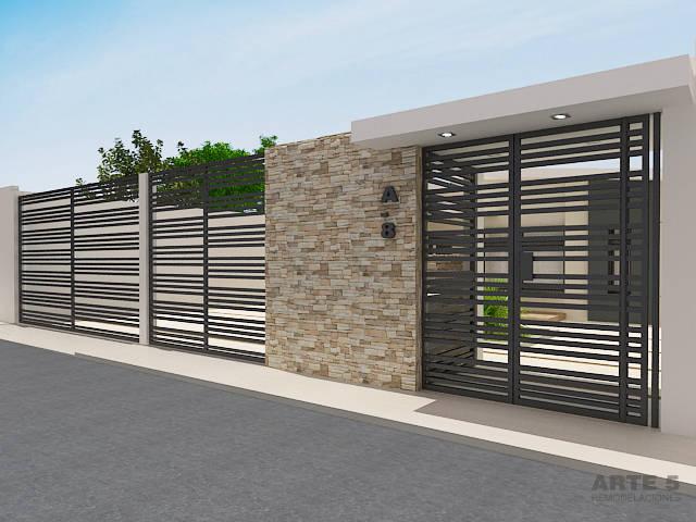 Modelos de fachadas para remodelar tu casa for Casas pequenas estilo minimalista