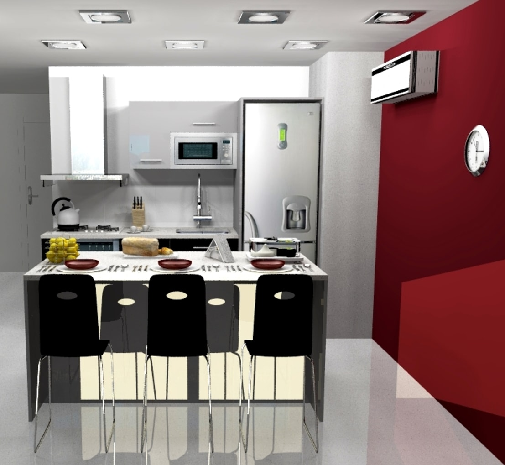 Cocina abierta de arce mobiliario homify for Homify cocinas