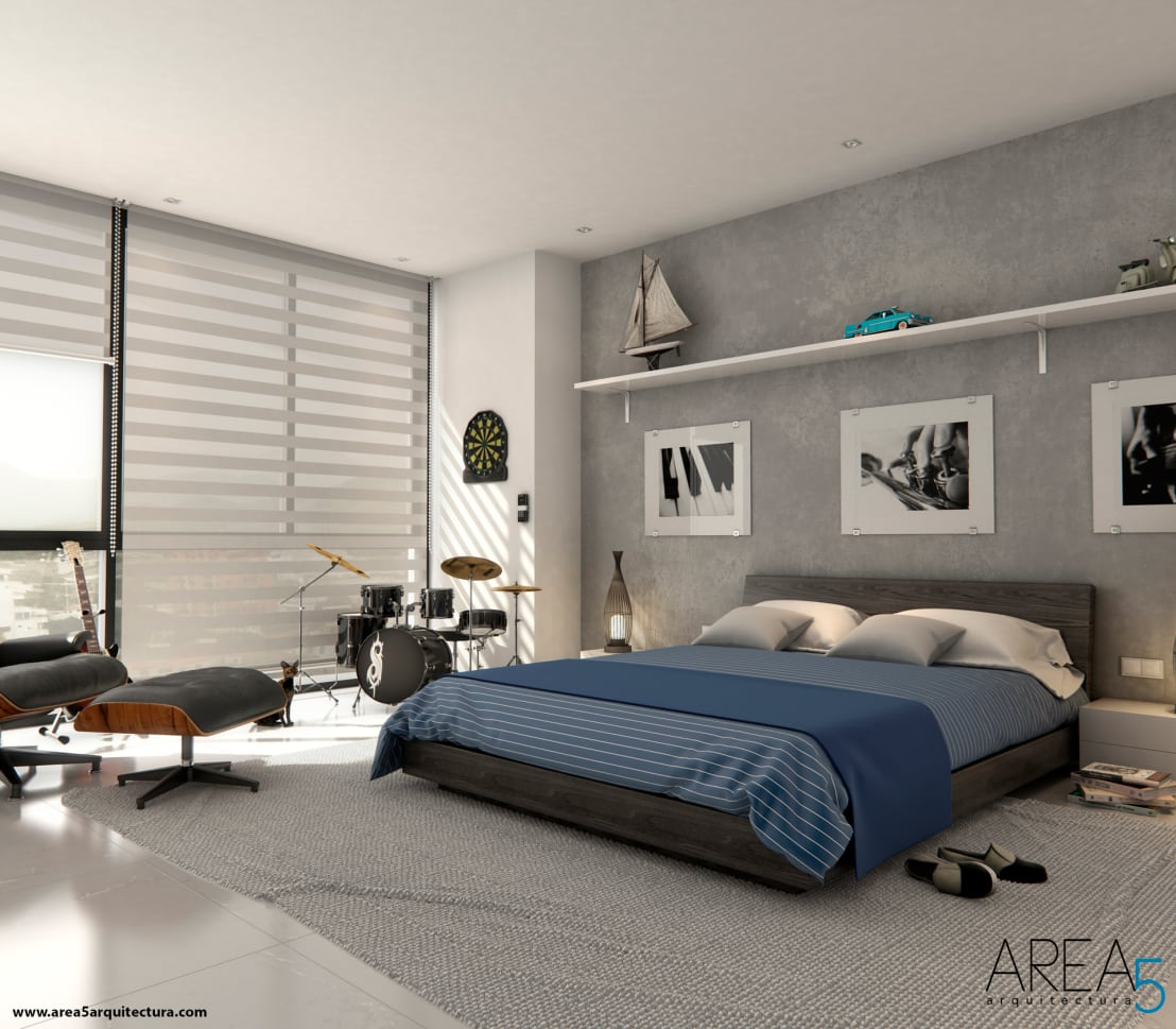 10 alcobas modernas que debes ver antes de cambiar la tuya - Habitaciones decoracion moderna ...