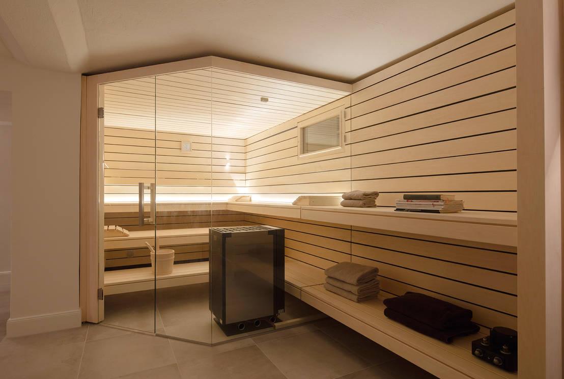 Umbau kellerraum zur design sauna par corso sauna - Corso interior design on line ...