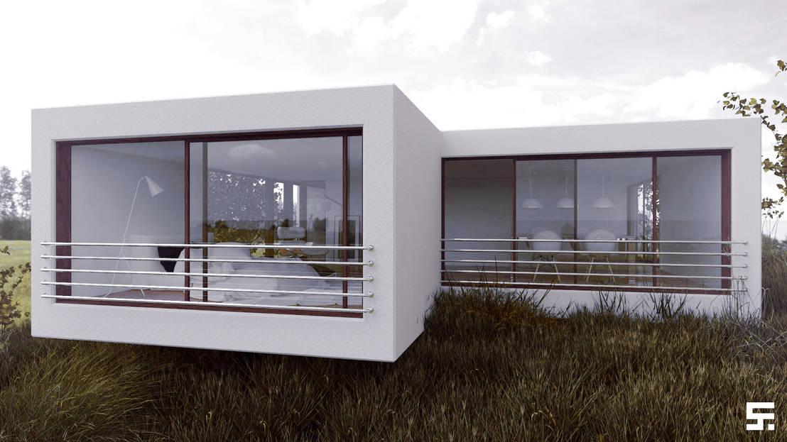 Casa en la colina por sf render homify for Render casa minimalista