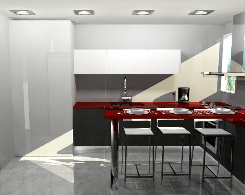 Cocina peque a de arce mobiliario homify for Mobiliario para cocinas pequenas