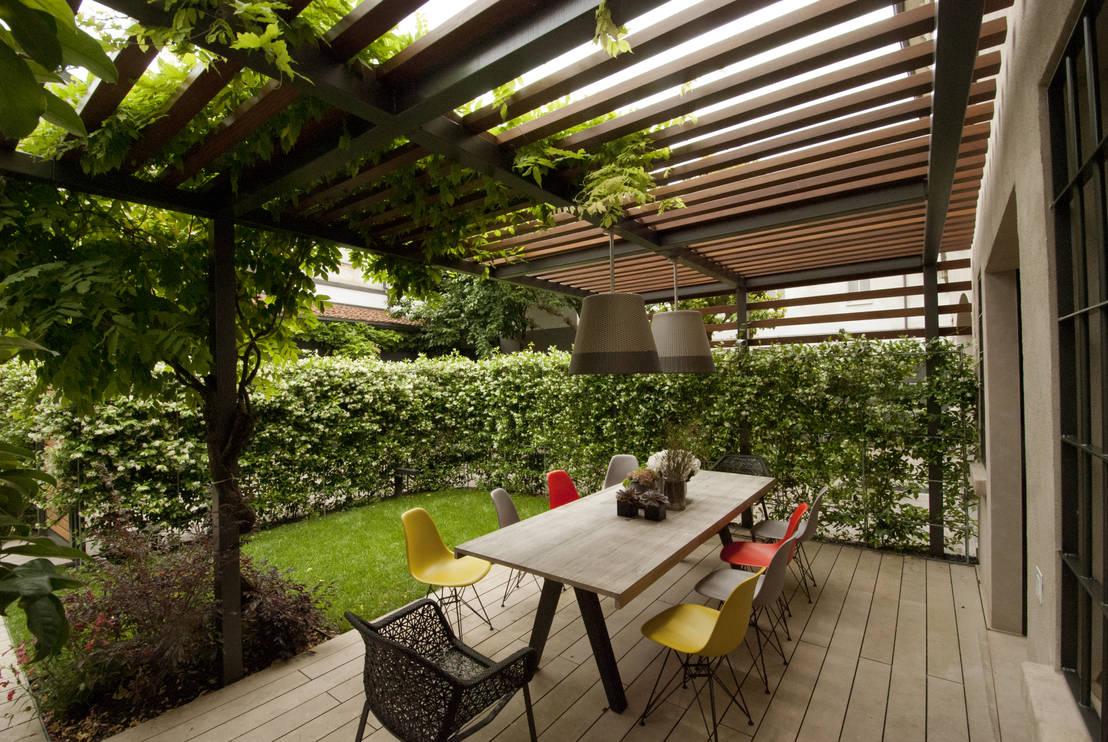 46 schitterende terrassen die je niet mag missen - Foto sluit een overdekt terras ...