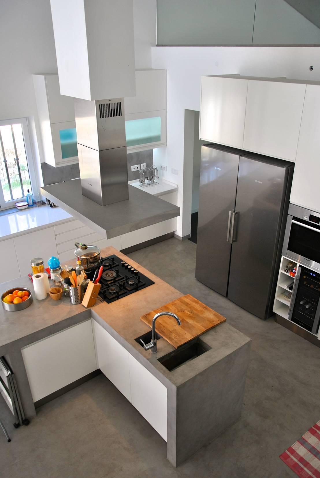 9 cocinas de concreto perfectas para el hogar for Cocinas profesionales para el hogar