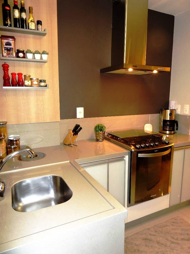 Sala e cozinha em tons de cinza de marina turnes - Marina cocinas ...