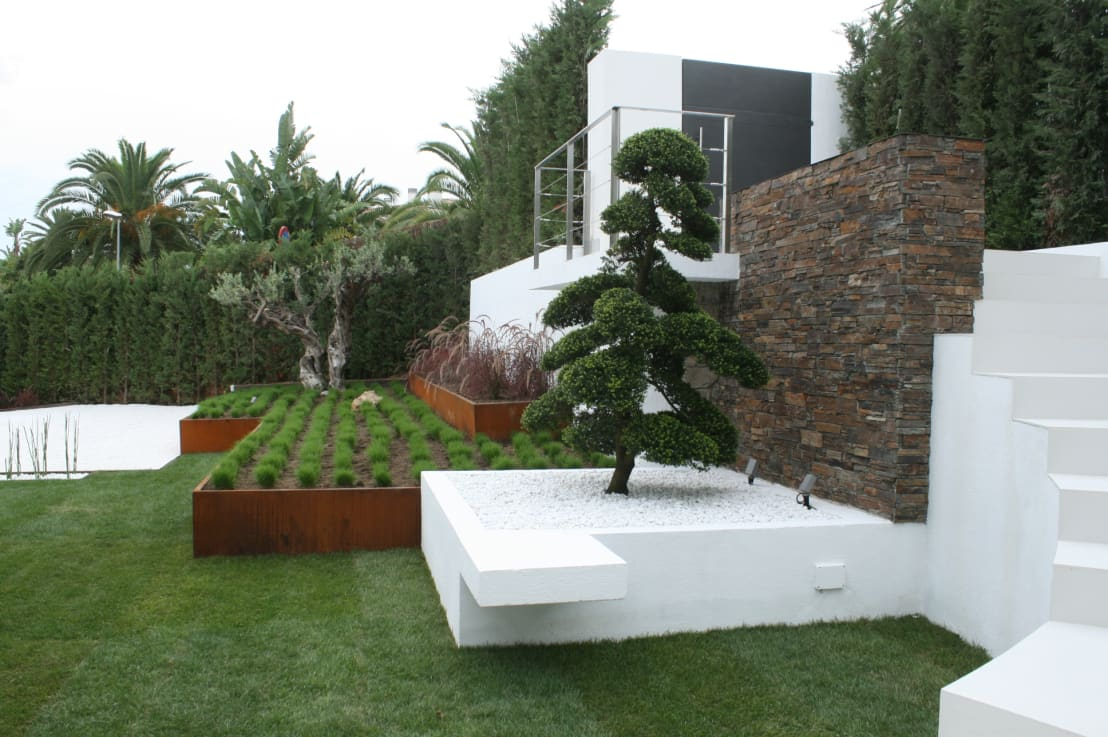 Minimalismo japones en su escencia pura de jardines japoneses estudio de paisajismo homify - Fotos de jardines modernos ...