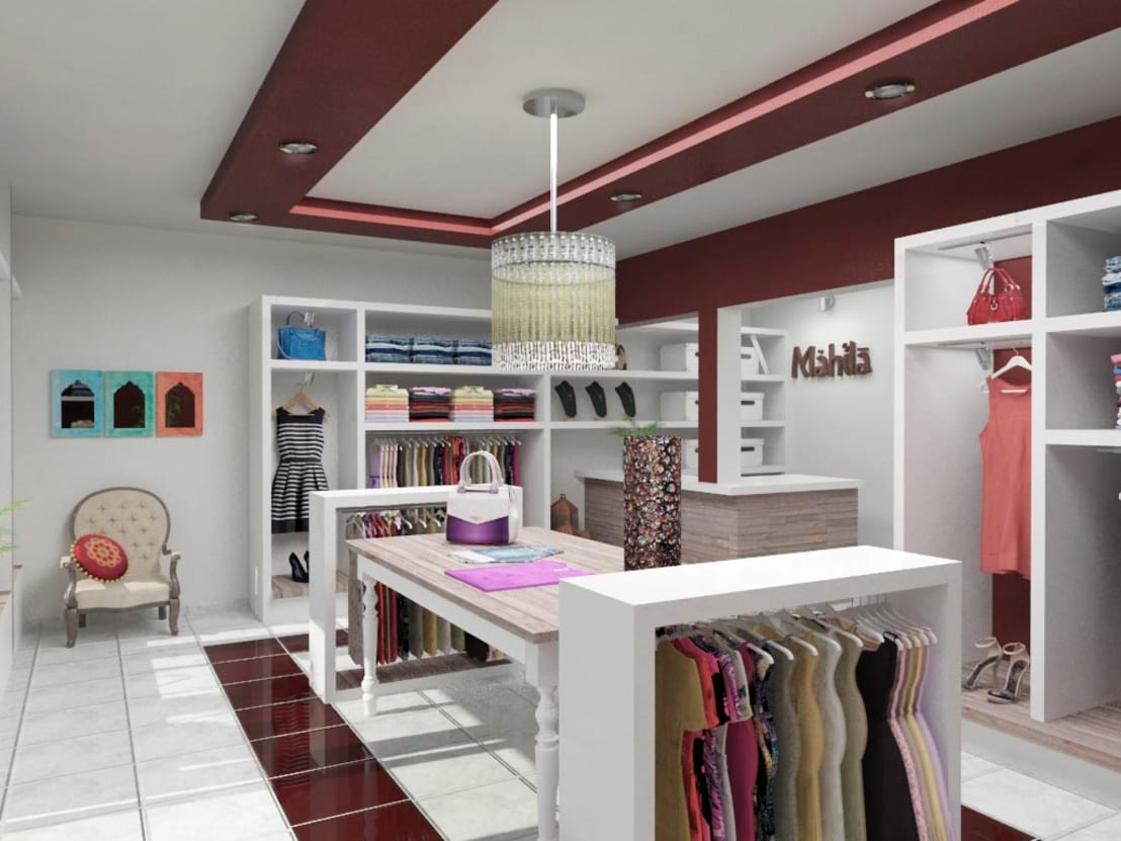 Mahila tienda de ropa de vi arquitectura y dise o for Probadores de ropa interior