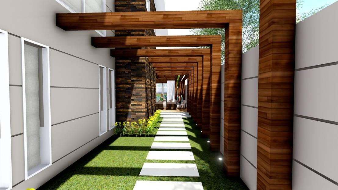 10 p rgolas geniales que hacen lucir la entrada de tu casa for Jardines pequenos para casas modernas