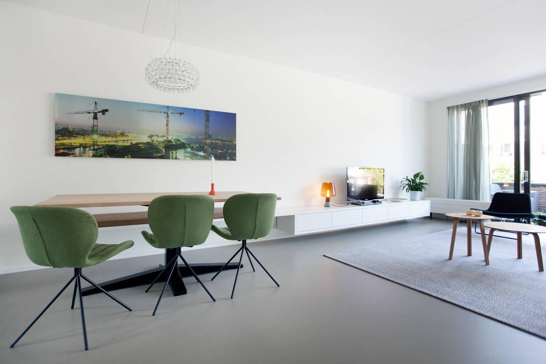 Gerestylde woonkamer in ijburg door interieur design by nicole
