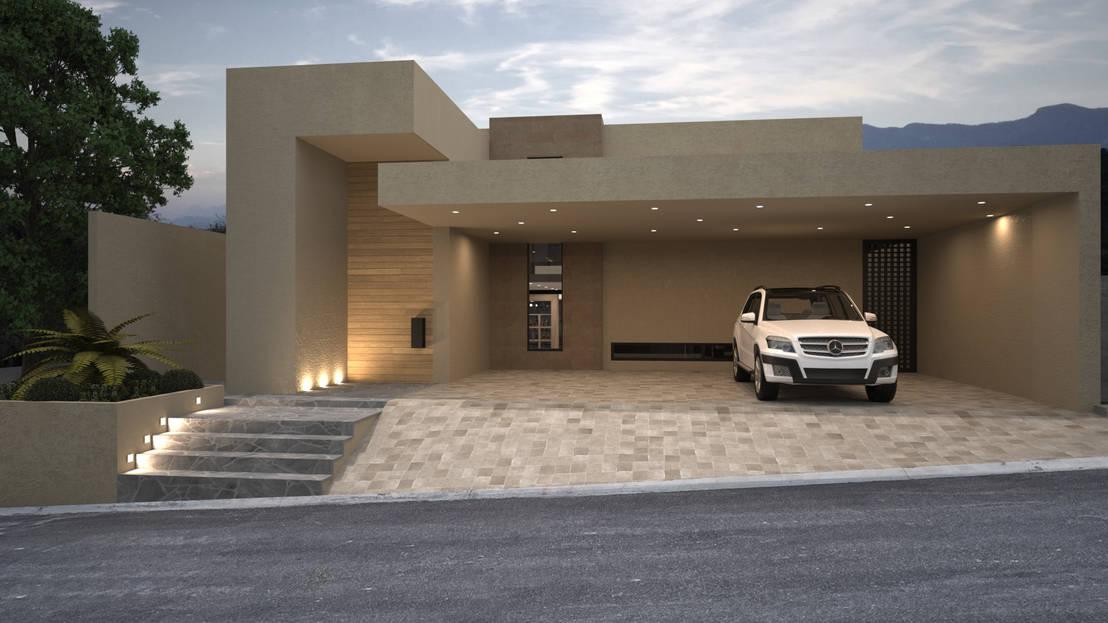 20 fotos de fachadas em 3d que o inspirar o a desenhar a for Casa minimalista de un solo piso