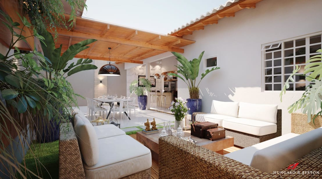 9 ideas para el patio que debes copiar urgentemente for Patios interiores modernos fotos