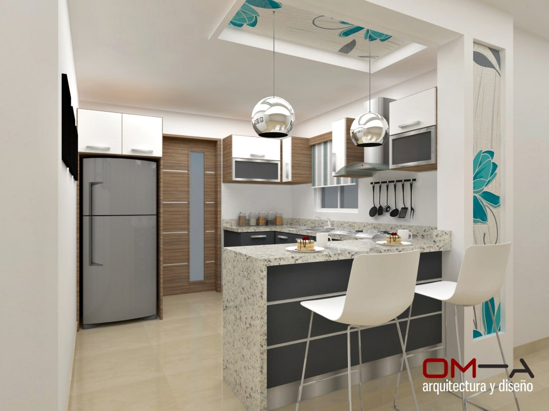 14 cocinitas en 3d que te van a encantar for Decoracion interiores cocina