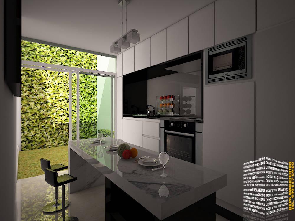 Cocina con jardin de hhrg arquitectos homify for Cocinas para jardin