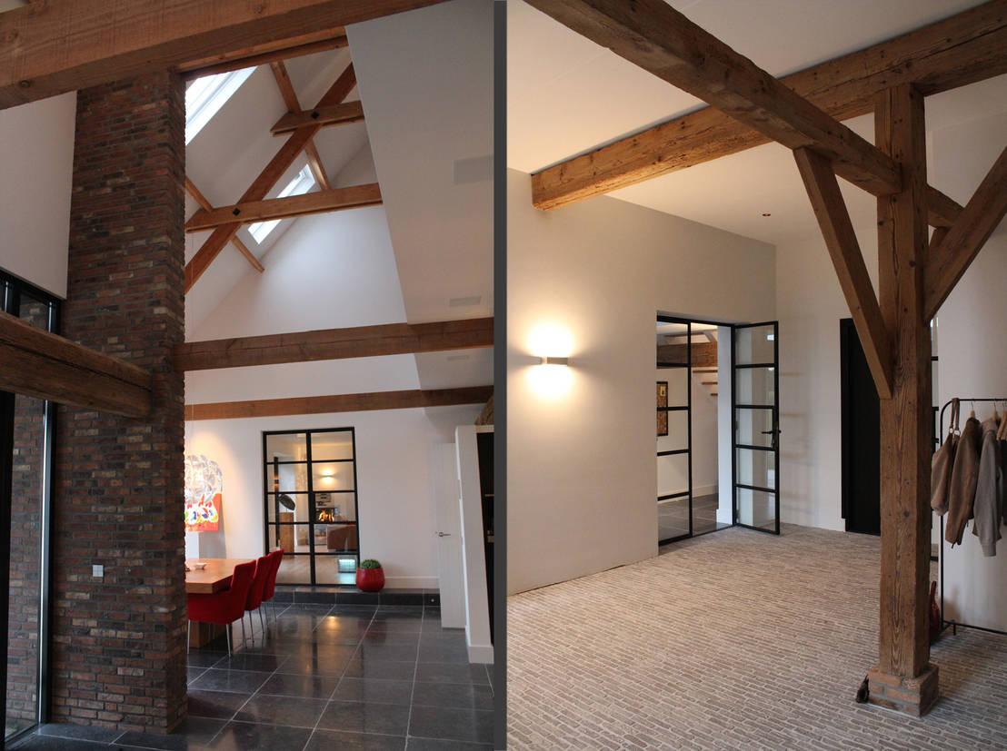 Verbouwing van oude boerderij tot mooie woonboerderij door for Herinrichten woonkamer