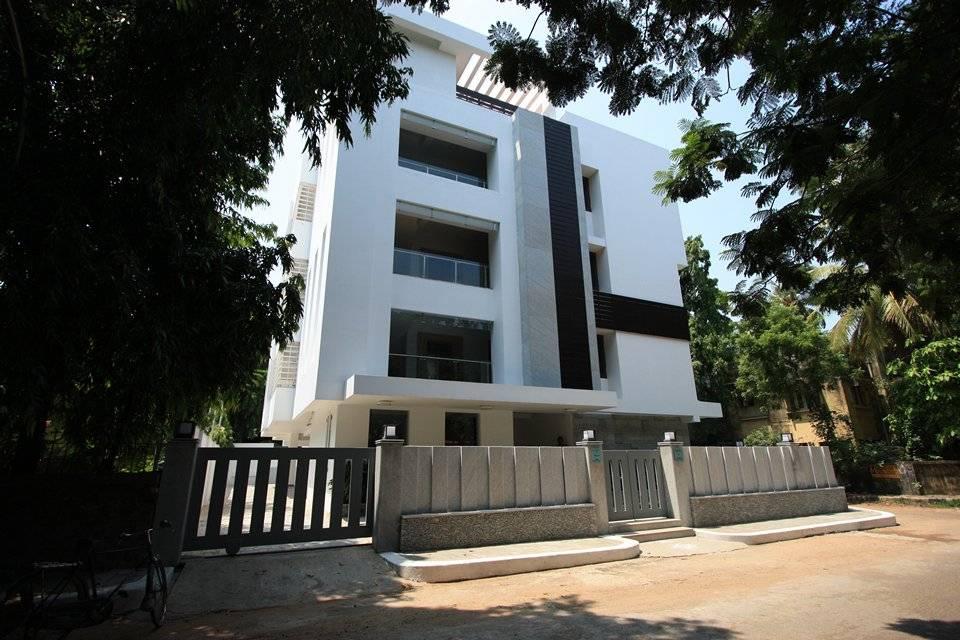 Award winning house at kk nagar chennai designed by ansari architects - Exterior Modern Houses By Ansari Architects