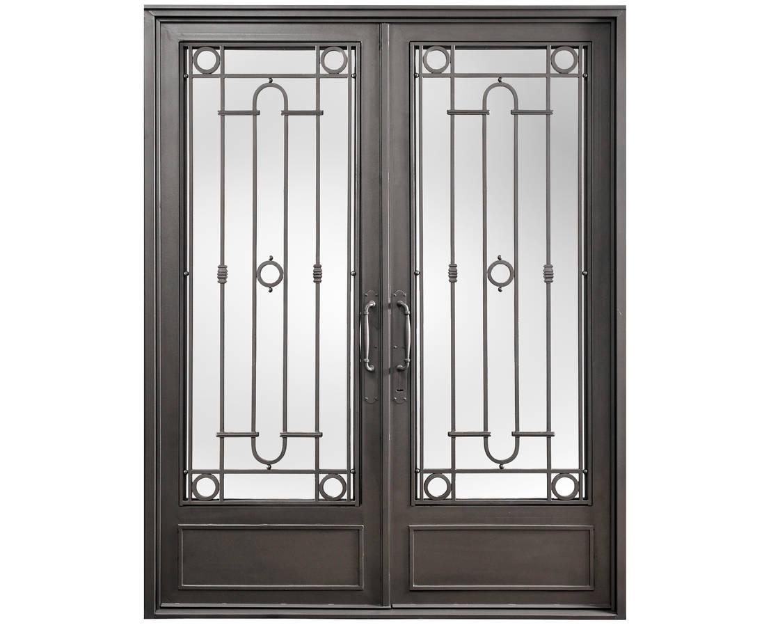 Puerta de entrada de hierro de del hierro design homify for Puertas hierro exterior