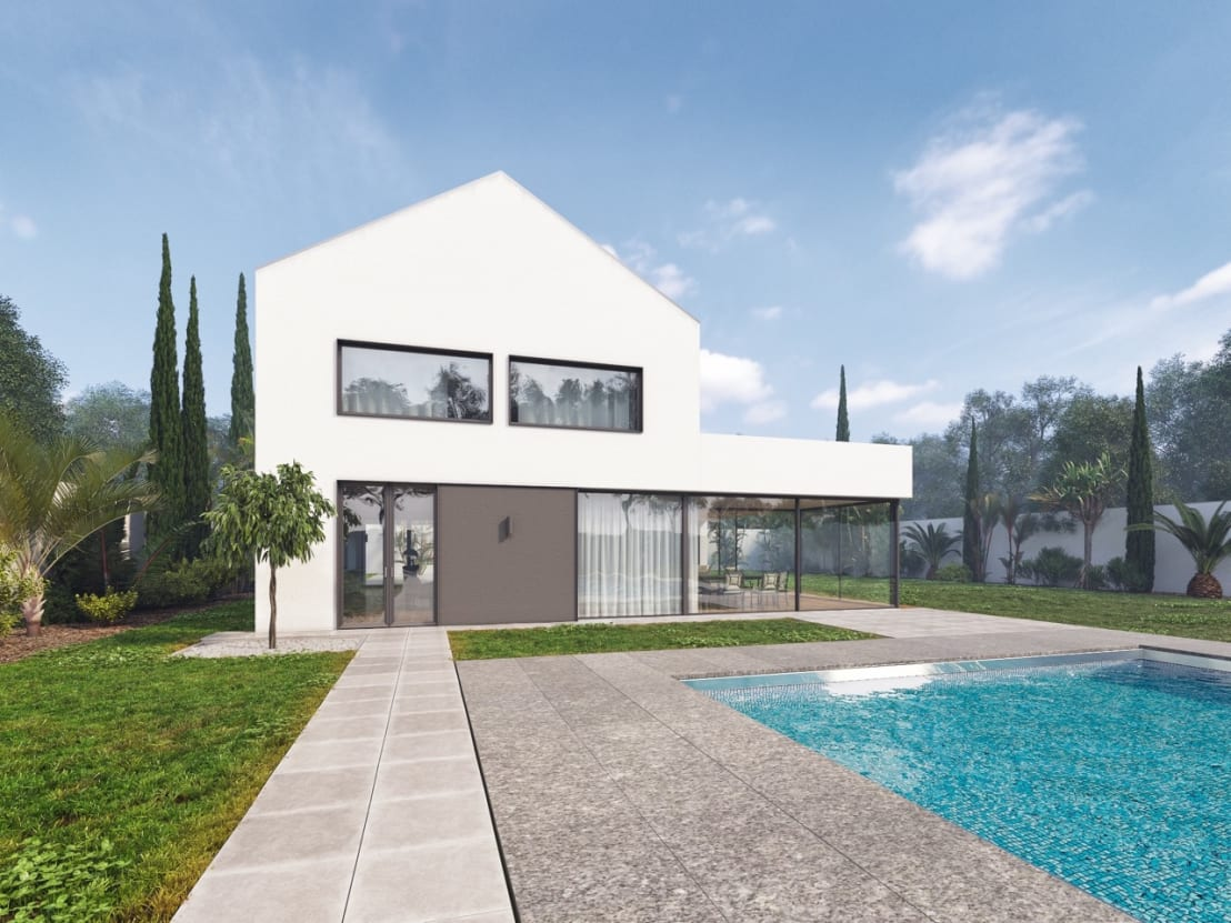 Casa in legno con piscina di progettolegno srl homify for Immagini di case in stile fattoria