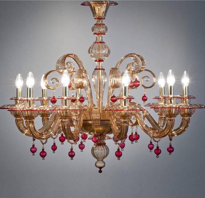 Murano chandelier uk 6 light murano glass chandelier in amber mur ch murano glass chandelier classic ruby details fum 233 glass murano chandelier uk aloadofball Gallery