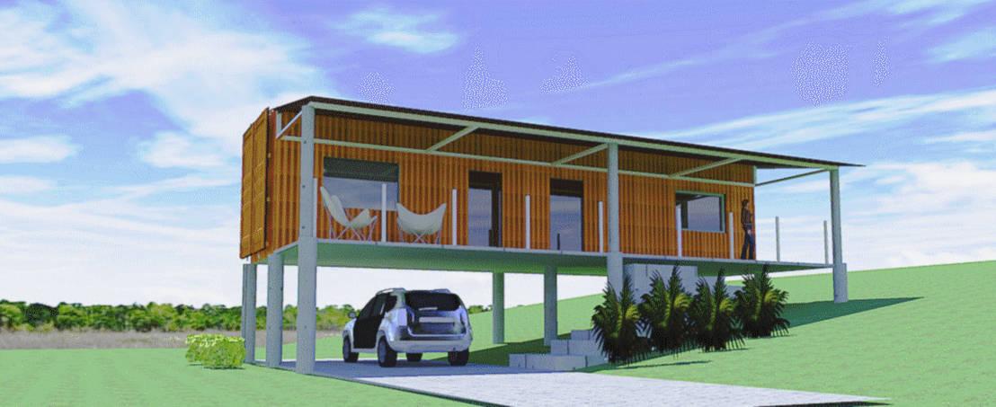 Casa container gramado rs por aparatto arquitetura homify for Casas de container modernas
