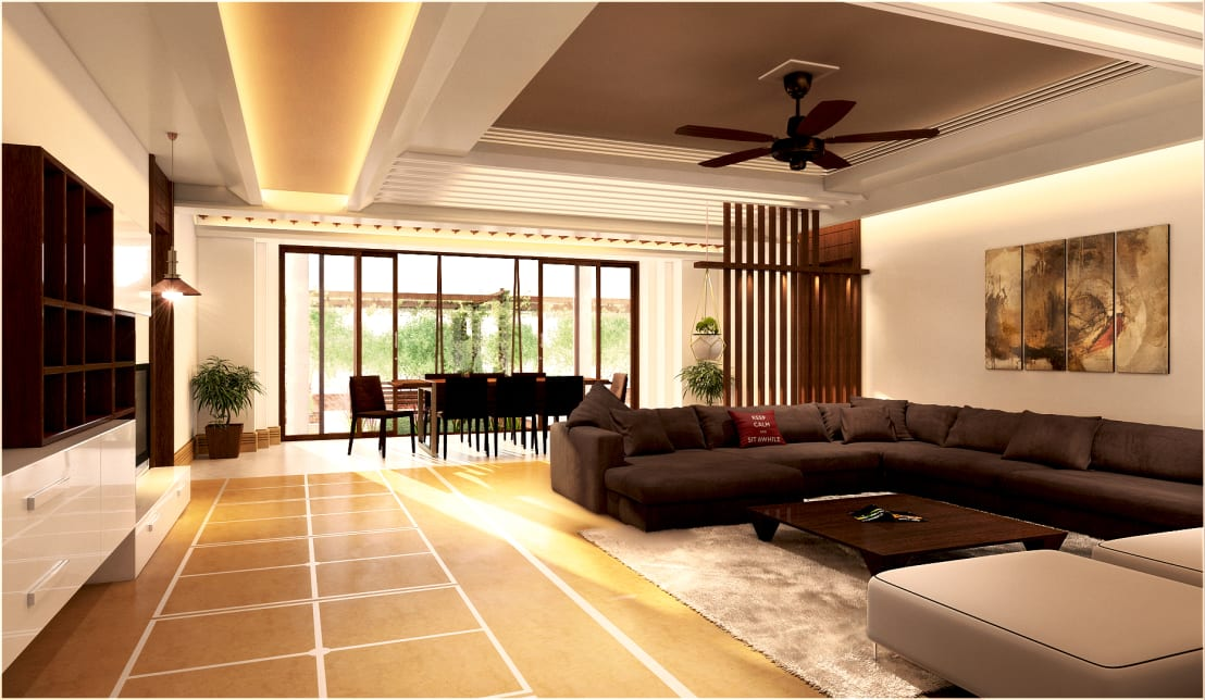 7 pictures to separate living room and dining area