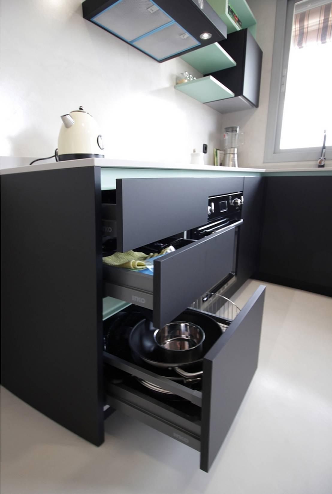 Dise o de cocina moderna en madrid de l nea 3 cocinas for Utensilios cocina madrid