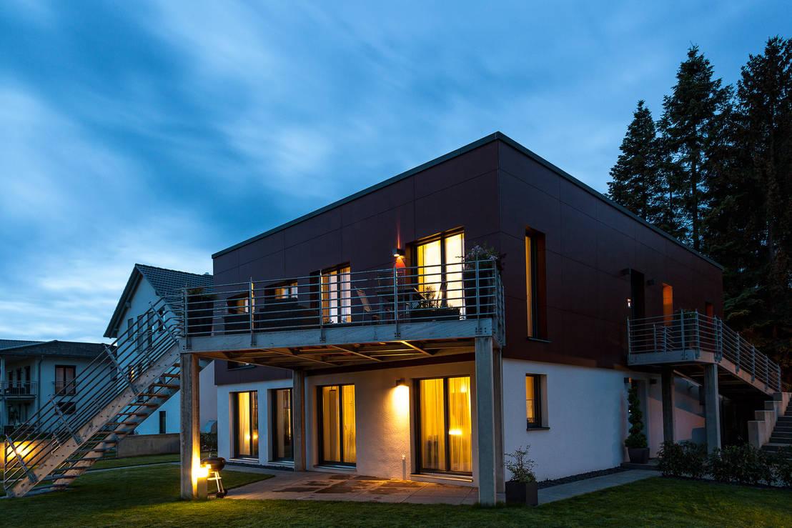 neubau eines einfamilienhauses von hauck hausbau gmbh homify. Black Bedroom Furniture Sets. Home Design Ideas