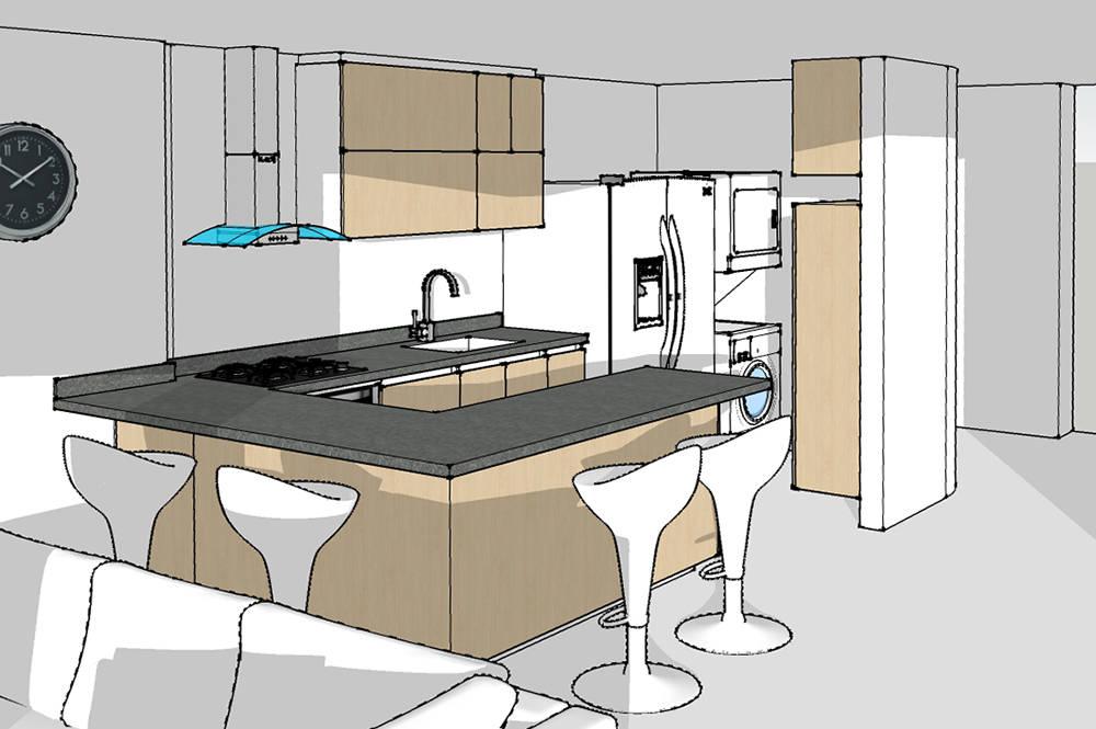Lo primero un render de tu cocina de remodelar proyectos for Proyectos de cocina