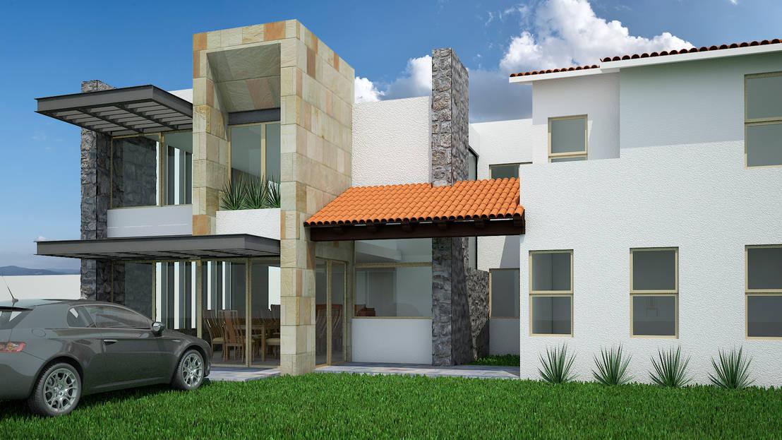 Casa club 001 de jeost arquitectura homify for Casa cub moderne