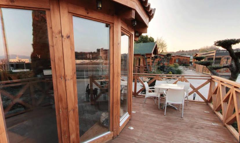 Exposici n de casas de madera de casas de madera cuni homify for Foro casas de madera