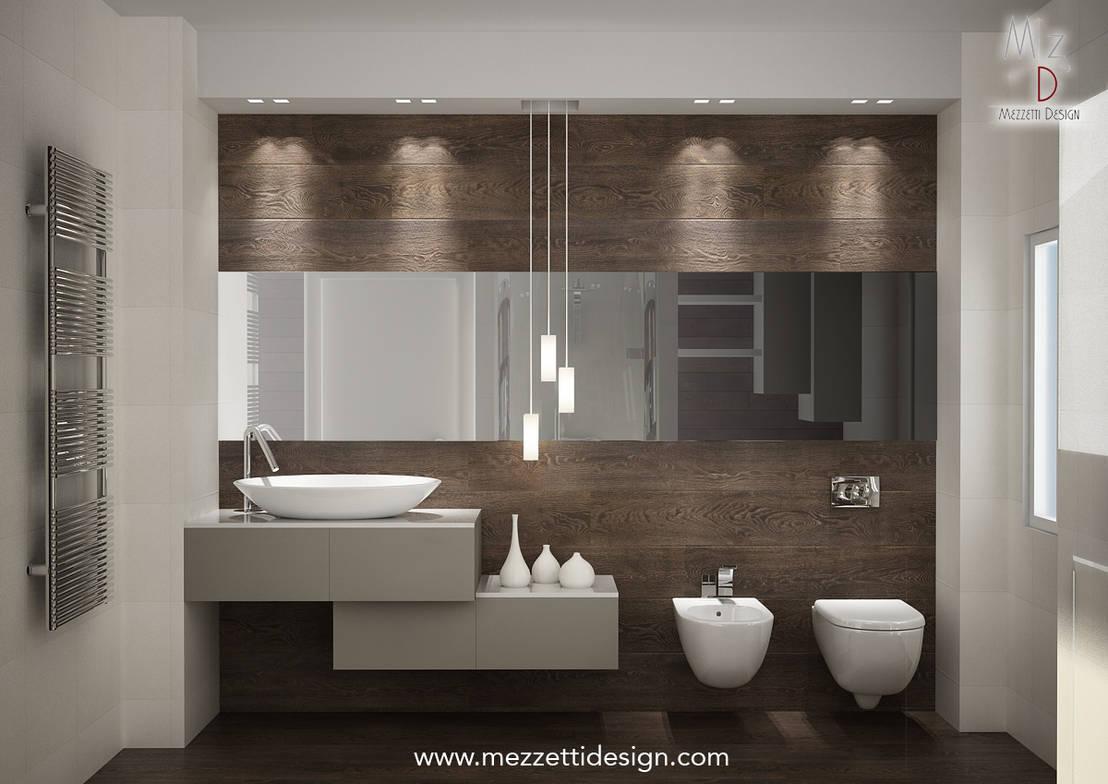 Progetto di un bagno di mezzettidesign homify - Progetto accessori bagno ...