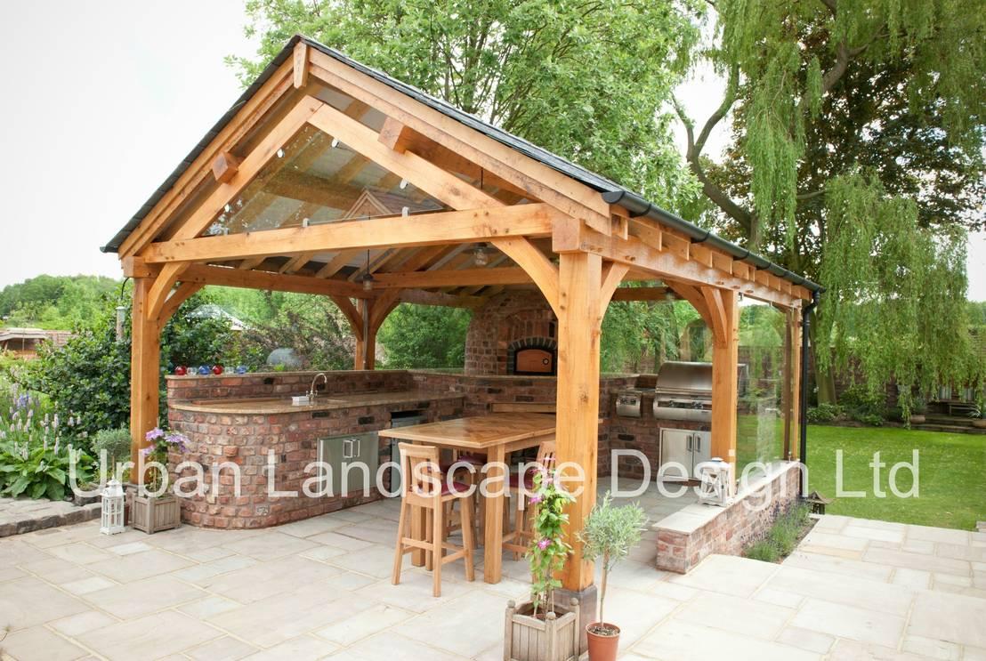 Outdoor Kitchen Oak Building By Urban Landscape Design Ltd
