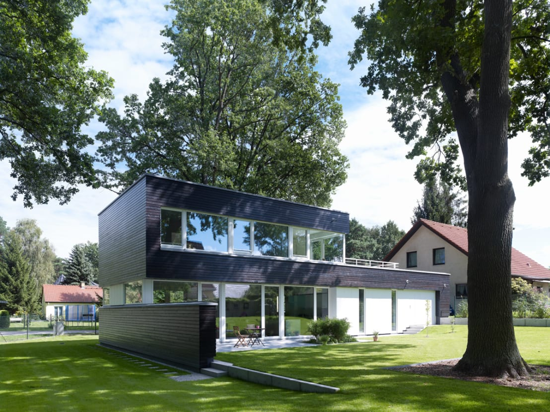 Modernes wohnen mit offenem grundriss for Modernes wohnen bilder
