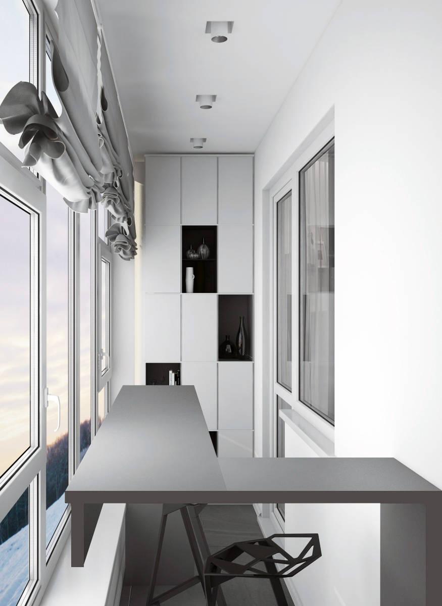 Фото квартира множество оттенков серого - балкон спальни- кр.
