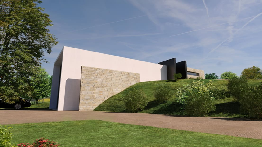 construction maison contemporaine en pays de gex ain par arrivetz belle homify. Black Bedroom Furniture Sets. Home Design Ideas