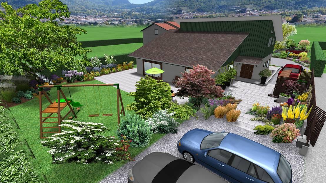 Anthemis bureau d 39 etude paysage jardin sinueux homify - Bureau d etude paysage lyon ...