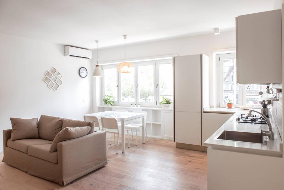 15 appartamenti di 70 m che sfruttano al massimo ogni for Immagini di appartamenti ristrutturati