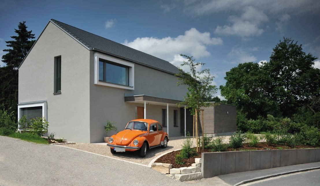 Klassisches einfamilienhaus neu interpretiert for Klassisches einfamilienhaus