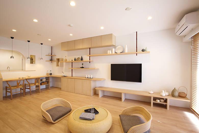inspirasi penataan ruang tamu minimalis ala jepang