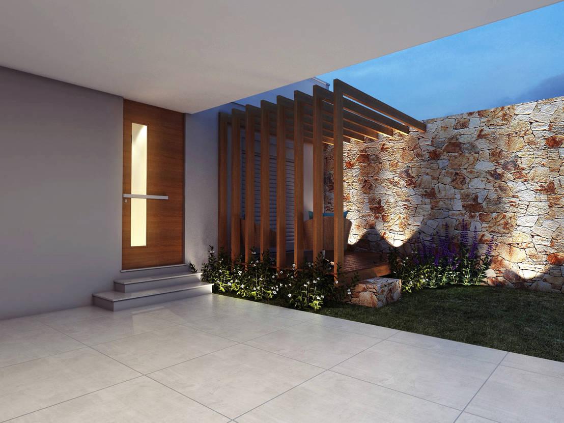 24 ideas para la entrada de tu casa sencillas pero bonitas - Entradas para casas ...