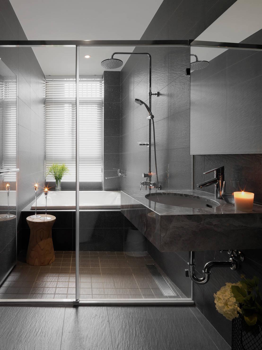 15 piccoli bagni con doccia walk in. Black Bedroom Furniture Sets. Home Design Ideas
