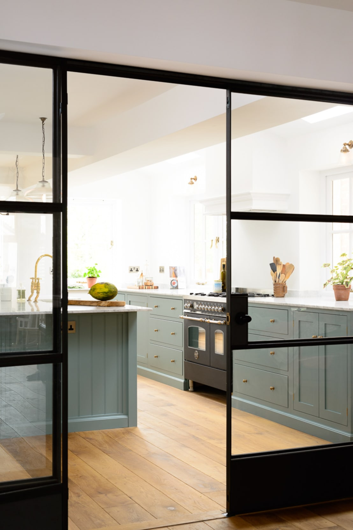 The trinity blue kitchen by devol by devol kitchens homify for Kitchen 0 finance b q