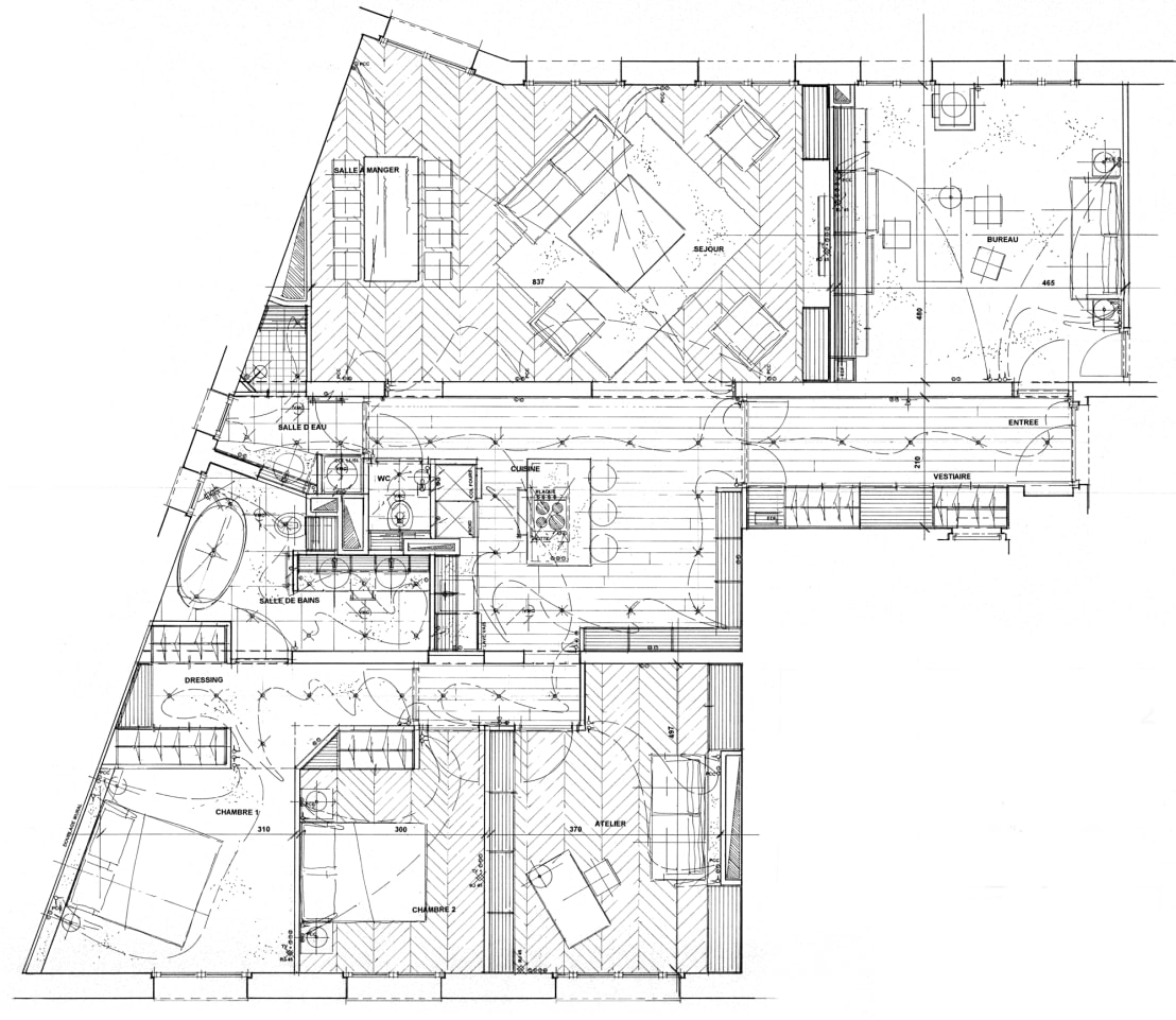 appartement classique contemporain paris neuilly. Black Bedroom Furniture Sets. Home Design Ideas