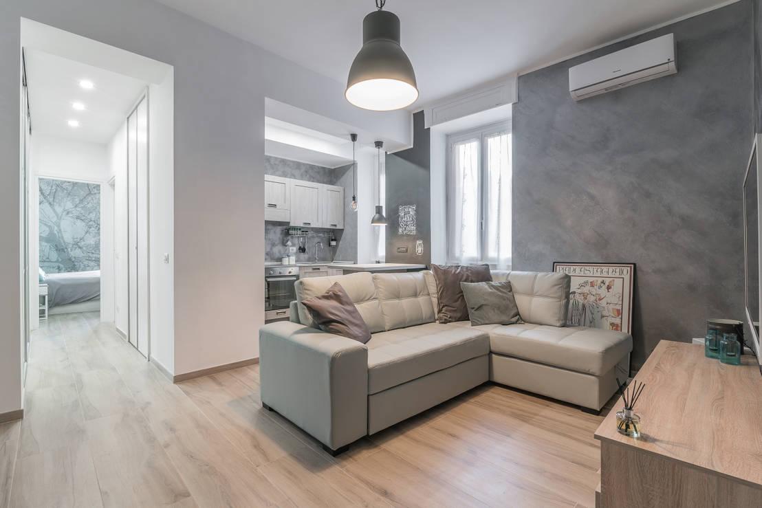 8 apartamentos que han usado fabulosamente el blanco y gris for Open space moderni