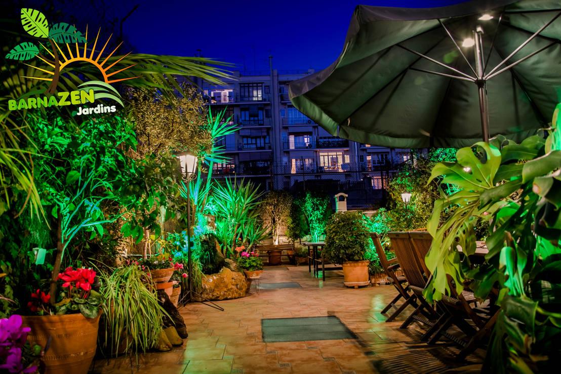 Iluminacion led de exterior de barnazen homify - Iluminacion led exterior jardin ...
