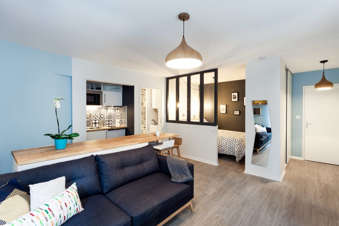 r novation compl te d 39 un appartement de 30m par madam. Black Bedroom Furniture Sets. Home Design Ideas