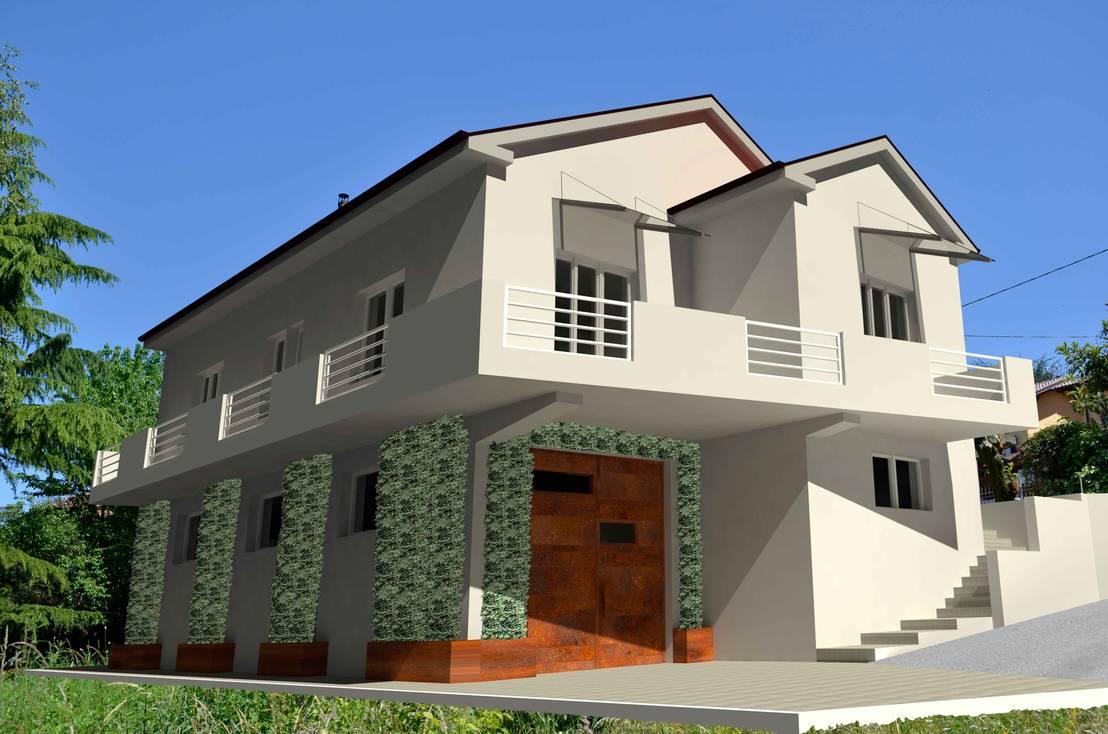 Ristrutturazione casa anni 60 39 di marcellorissoarchitetto for Case in stile williamsburg